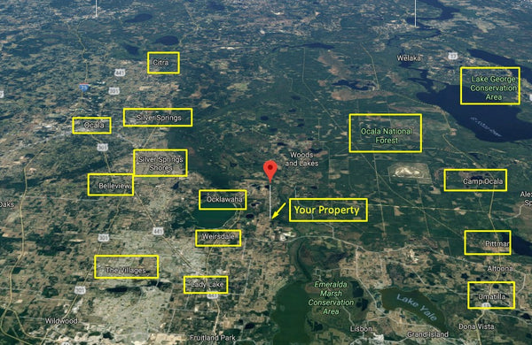 Pristine .23 Acre Lot on Paved Road Surrounded by Lakes-Owner Finance