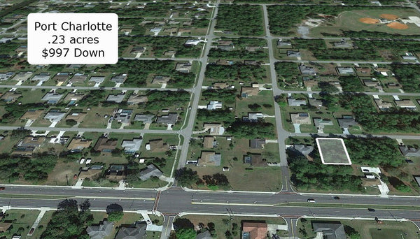 Invest or Build! .23 Acre Exclusive Lot on Paved Road in Port Charlotte