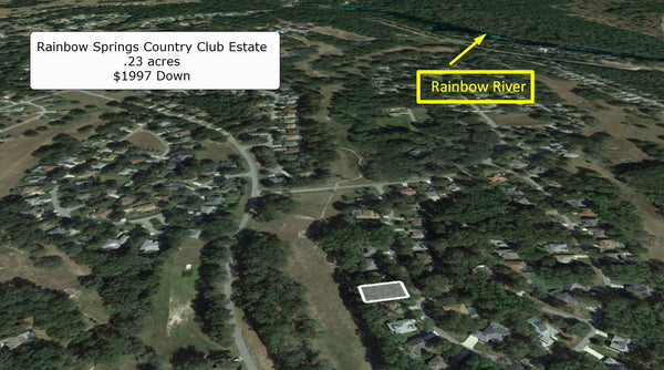 .23 acre lot Near Rainbow River at Rainbow Springs Country Club Estate