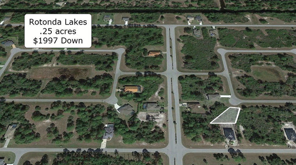 Exclusive .25 Acre Corner property on Paved Road near Myakka River