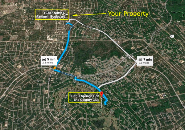 .23 acre Cleared Lot on a Paved Road - Citrus Springs - Owner Finance