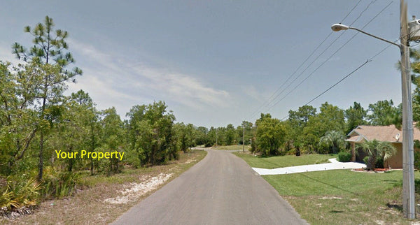 .28 acre lot on Paved Road in Sugarmill Woods-Owner Financing