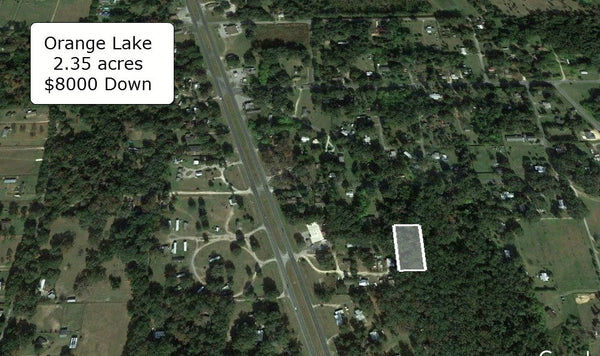 Oversized 2.35 acres Lot on Paved Road in Reddick Ready for Horse Farm or Mobile