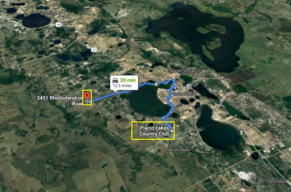 Beautiful .24 Acre Lot in Lake Placid R1 Zoned Close to Lake June in Winter