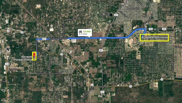 .89 acre lot on paved road  in Crystal River