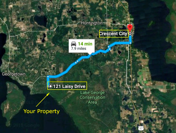 .23 Acre Lot for Sale. R2 Zoning -Minutes to Lake George-Owner Finance