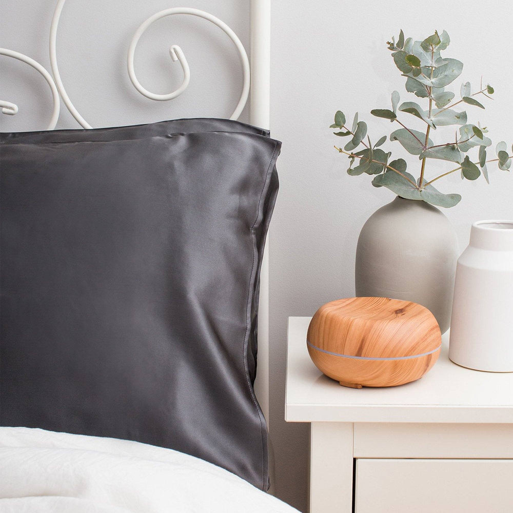 Twin Set Silk Pillowcase Charcoal - King Size