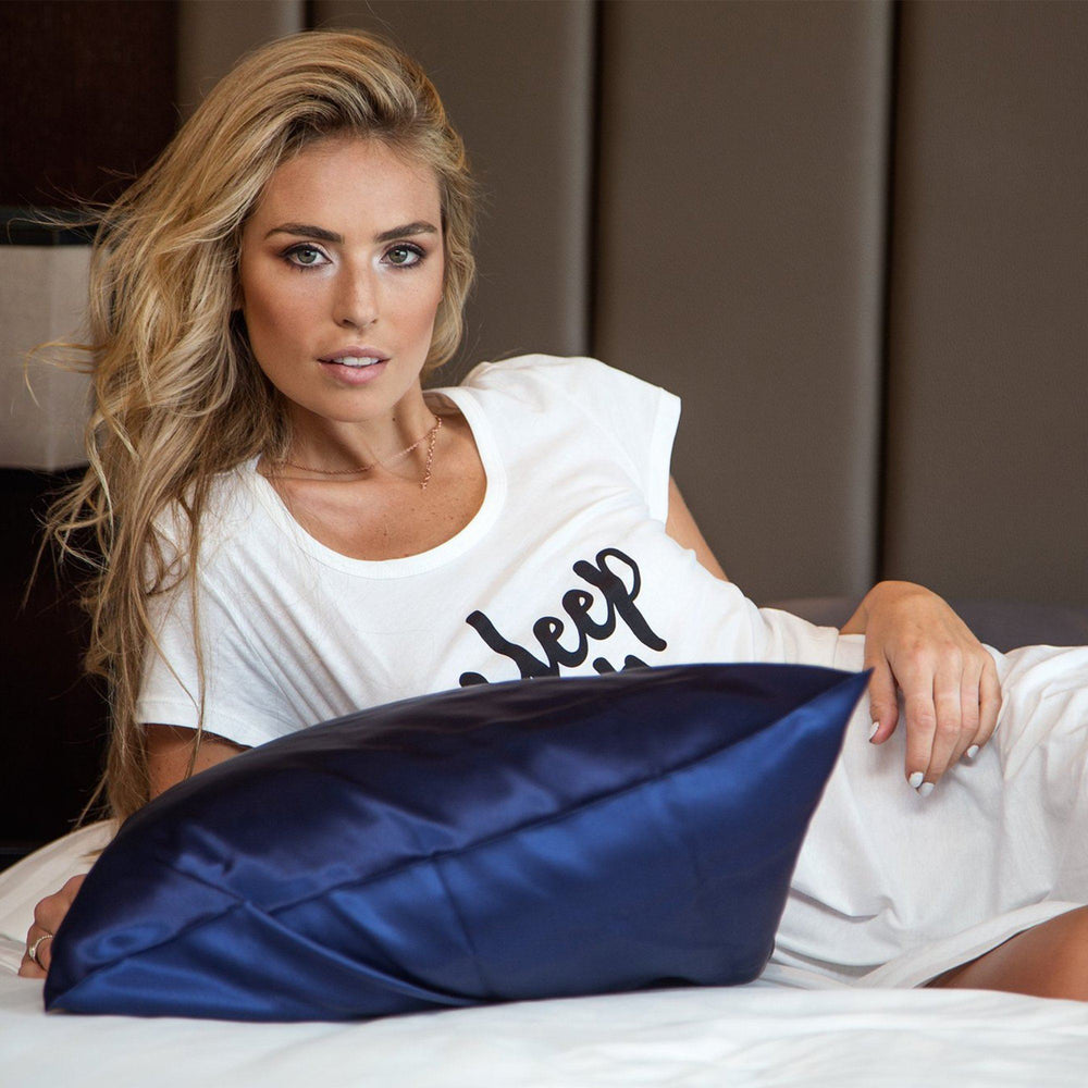 Twin Set Silk Pillowcase Navy