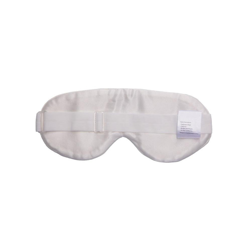 Silk Sleep Mask Natural White