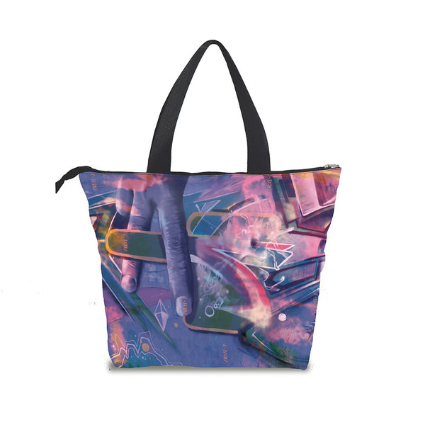 C-Starz Urban Art Tote Bag Holiday Gift For Hippies