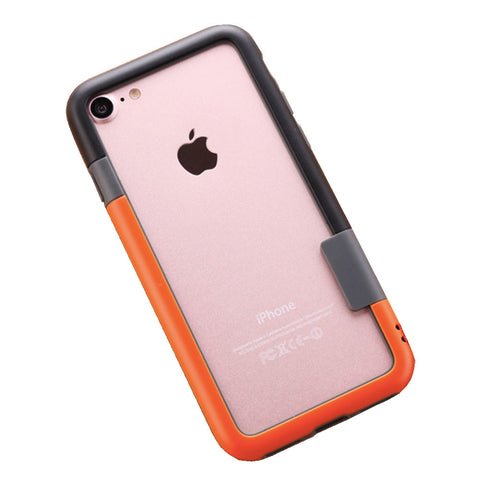 Color Combo iPhone 7Plus Frame Case (Black & Orange) Urban Style Accessory For Creative Design Art Lovers