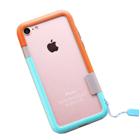 Color Combo iPhone 7Plus Frame Case (Orange & Blue)