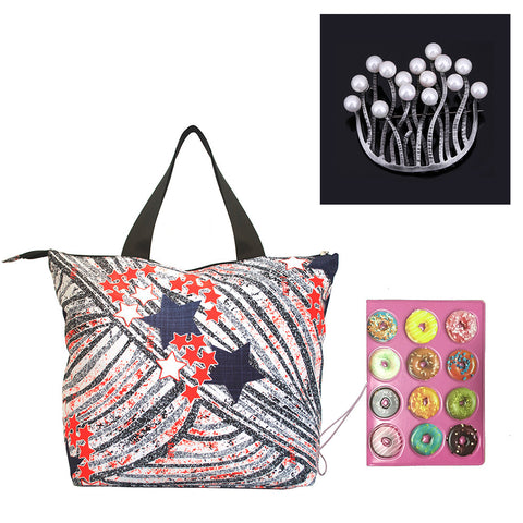 """Oh So Sweet"": Stella Tote + Donut Passport Case + Coral Pin"