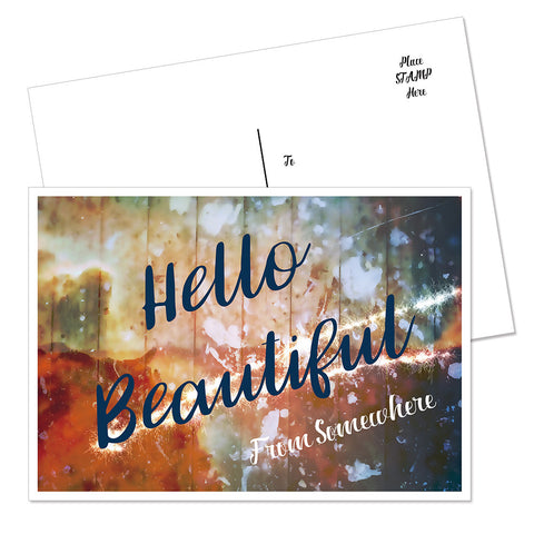 """Hello Beautiful"" Postcard"