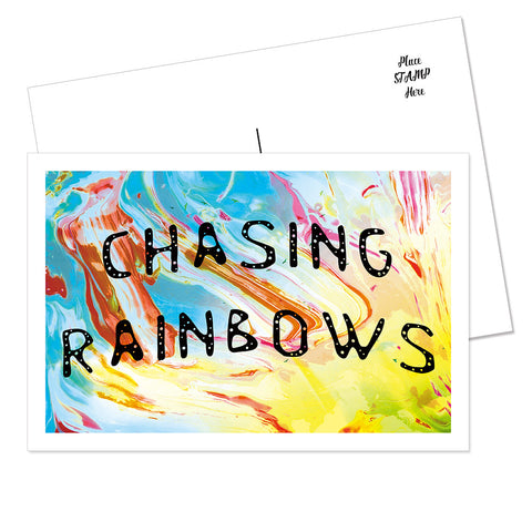 """Chasing Rainbows"" Postcard (Dancing)"