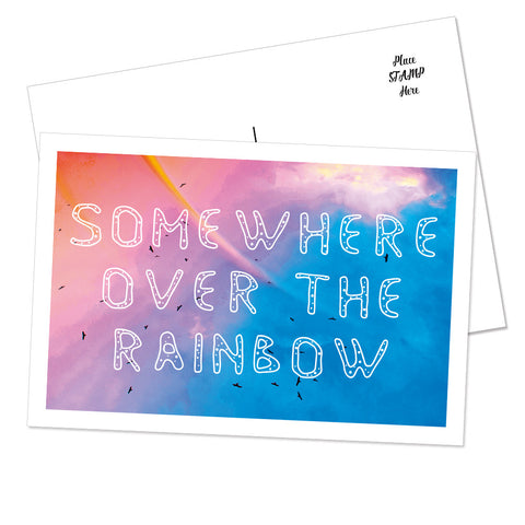 """Chasing Rainbows"" Postcard (Sky)"