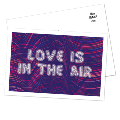 """Love Is In The Air"" Postcard (Waves)"