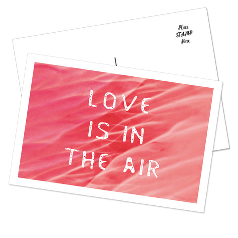 """Love Is In The Air"" Postcard (Liquid)"