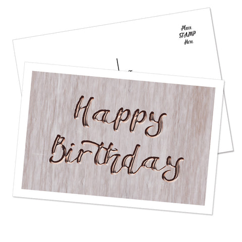 """Happy Birthday"" Postcard (Vintage Paper)"