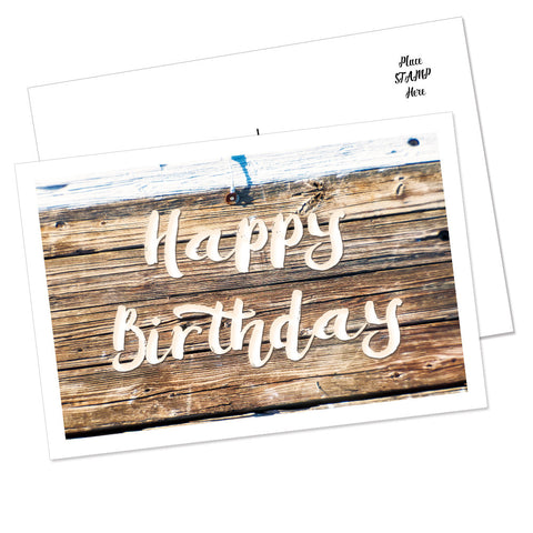 """Happy Birthday"" Postcard (Wood)"