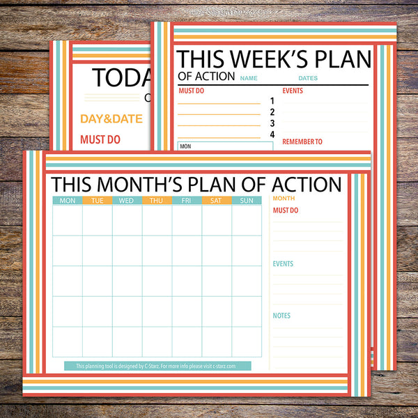"""Plan Of Action"" Printable Planner Set (Spring)"