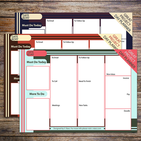 """Great Project"" Printable Planner For Busy People"