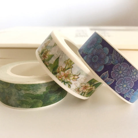Traditional Asian Style Floral Masking Tape (3 Colors)
