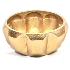 Bowl Gold Metal Ridge
