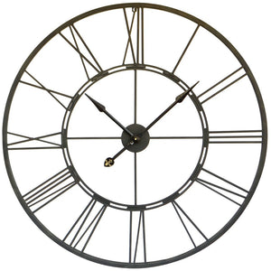 Large Roman Numeral Clock (Functioning) - Black