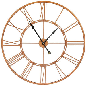 Large Roman Numeral Clock (Functioning) - Copper