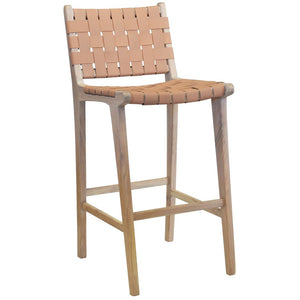 Barstool Blush Wood & Leather