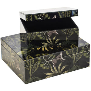 Decorative Glass Box LRG S/2
