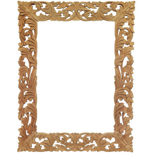 Mirror Carved Raw Wood Frame Only -1.8m(H) XL