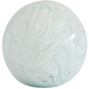 Glass White Marble Paperweight (Decorative)