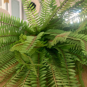 Faux Boston Fern Bush Faux 75cm