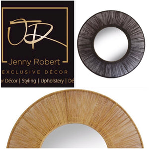 Jute Mirror Black / Natural
