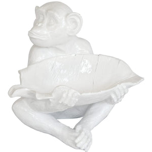 Monkey Decor Leaf Bowl (Resin)
