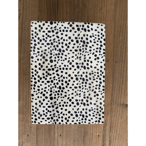 Decorative Bone Box Spotted Black / Cream