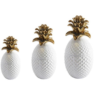 Jar Pineapple - Ceramic White