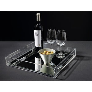 Modern DECORATIVE Perspex Trays (With Mirror Base)