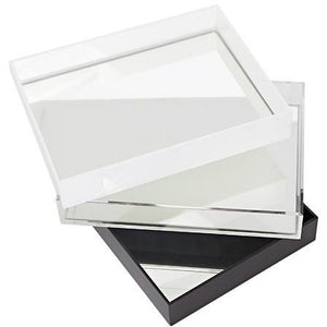 Perspex DISPLAY Tray with Mirror Base (No handles)