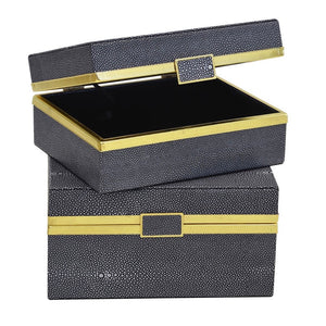 Box Set Shagreen Snake Blue & Gold S/2