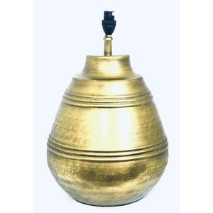Lamp Base Metal Brass Round (LRG)