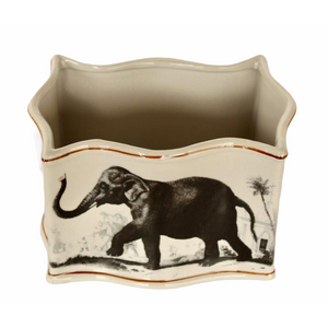 Planter Elephant Plains Ceramic