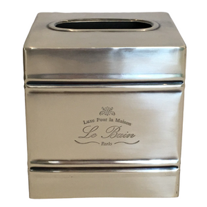Tissue Box Square Silver Le Bain