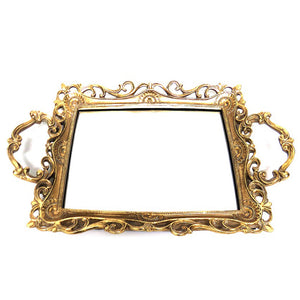 Mirrored Tray Gold French