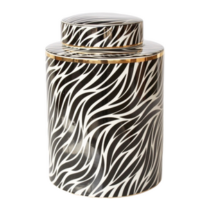 Jar Black and White Zebra (MED)