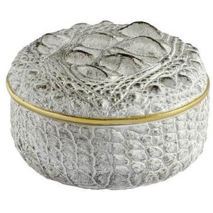 Crocodile Round White Box