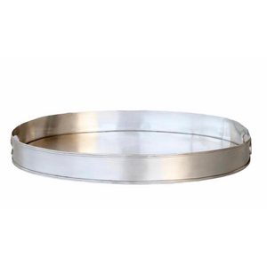 Tray Silver Oval (With Handles) LRG