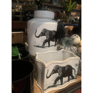Jar Elephant Plains Ceramic